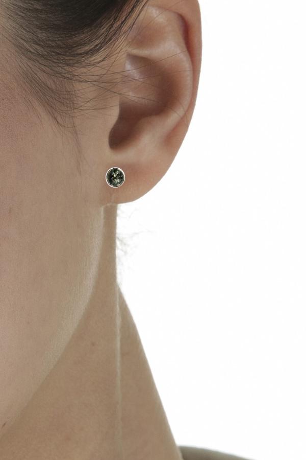 boucles d'oreilles en ambre vert