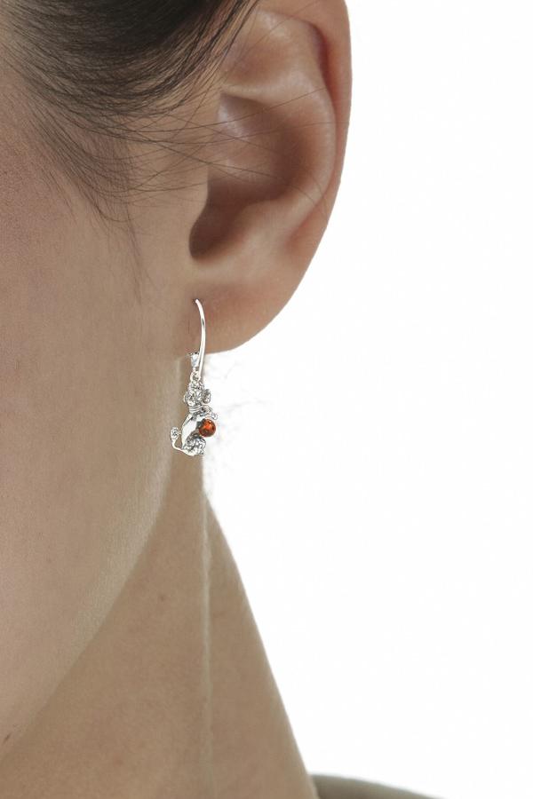 boucles d'oreilles en ambre