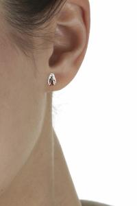 boucles d'oreilles en ambre véritable et argent