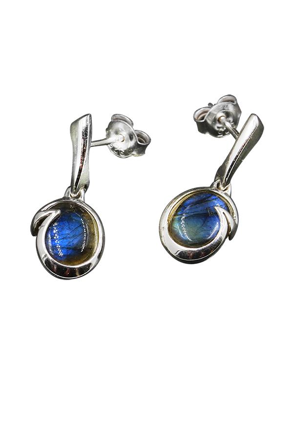 Boucles d'oreilles en pierre labradorite
