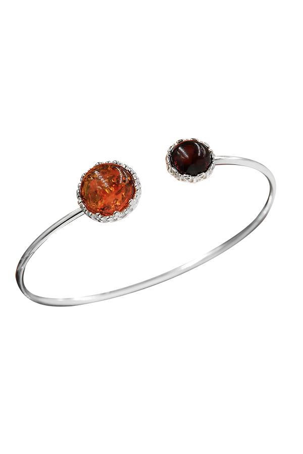 bracelet ambre bicolore