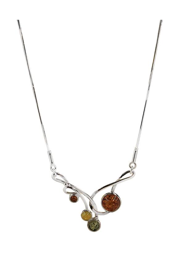collier volute ambre multicolor