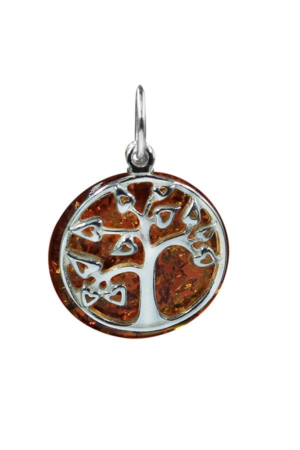 Pendentif arbre de vie ambre