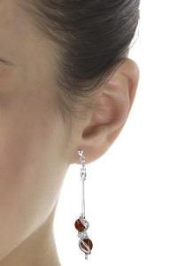 boucle d'oreilles en perle d'ambre