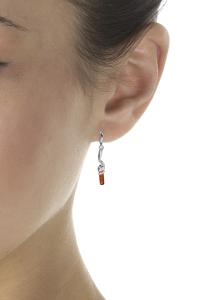 boucles d'oreilles ambre spirale