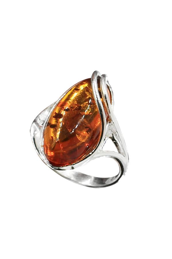 bague ambre grosse pierre