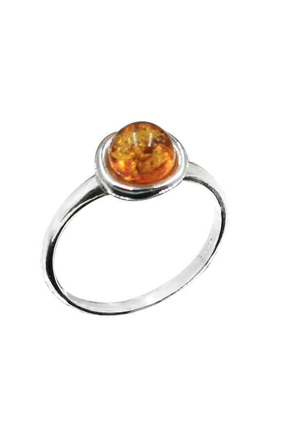 Bague ambre sphère