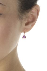 boucles oreilles pendantes améthyste
