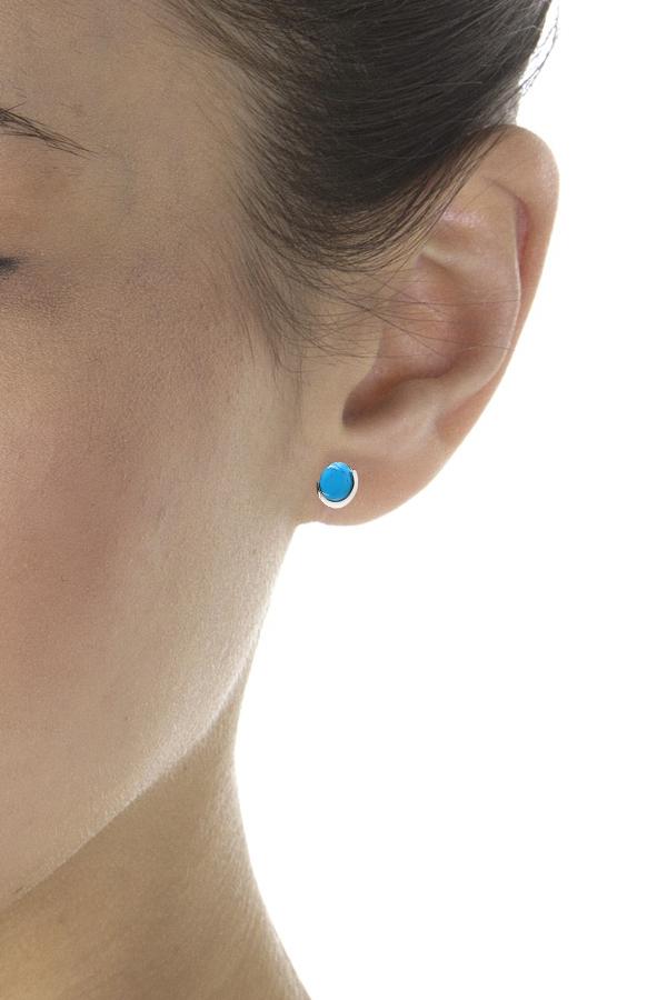 Boucles d'oreilles puces turquoise