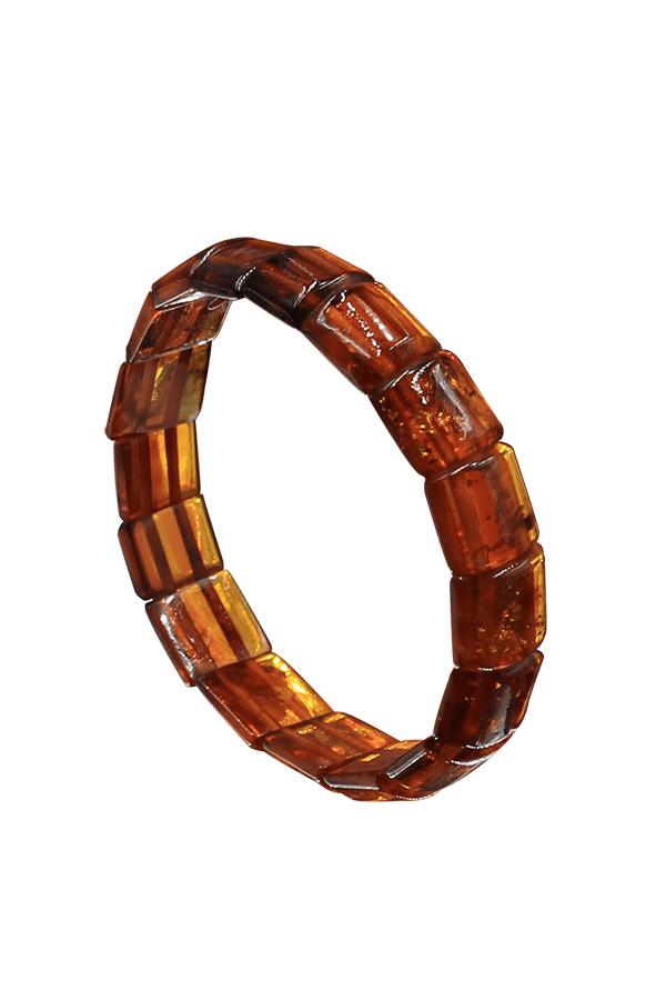 Bracelet cube ambre cognac