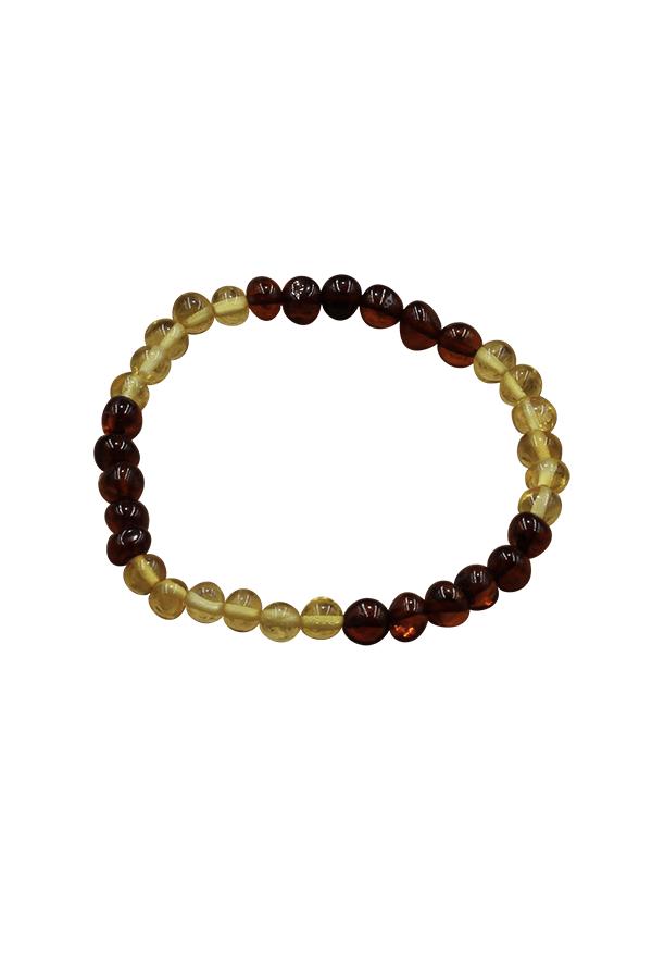 Bracelet en perles ambre véritable